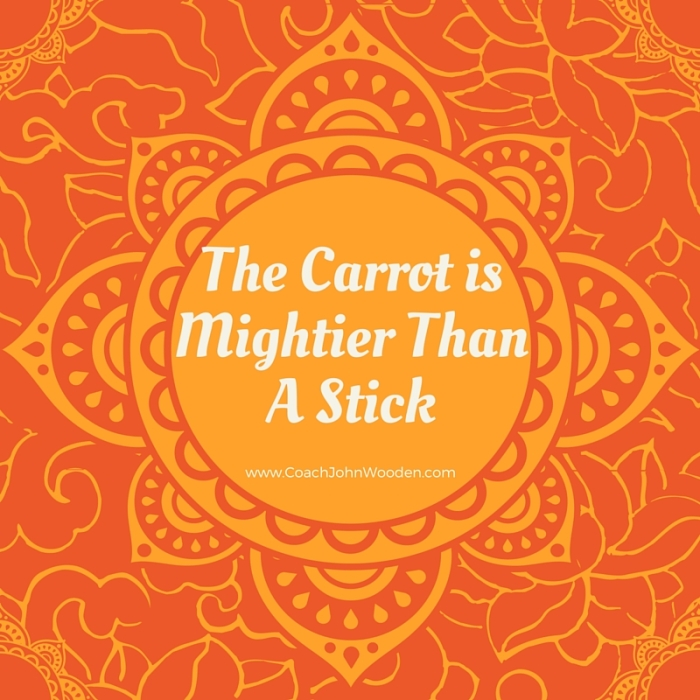 Carrot is mightier than a stick